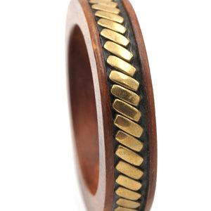 Treasures of Ojai Wood Brass Bangle