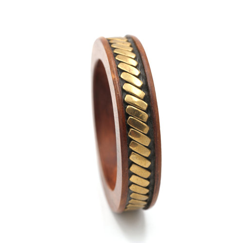 * Wood Brass Bangle