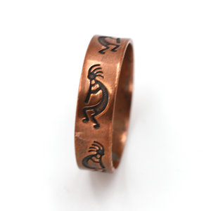 Treasures of Ojai WM Co Copper Kokopelli Ring