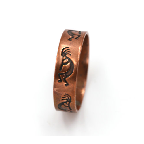 WM Co Copper Kokopelli Ring