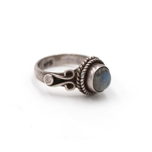 Sterling Labradorite Ring Size 6