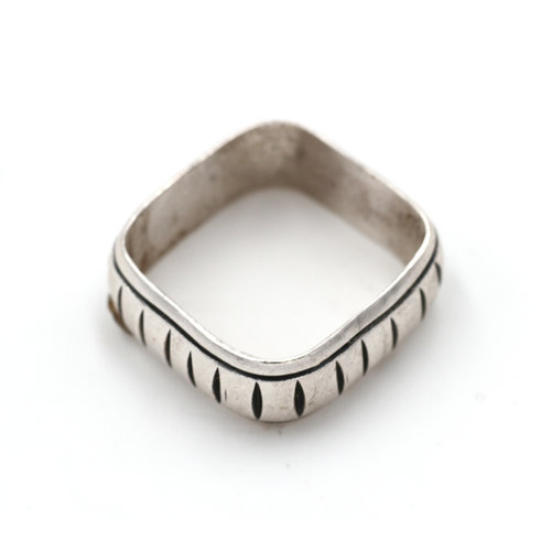 * Sterling Square Ring