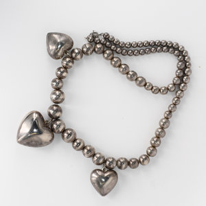 Silvertone Heart Necklace