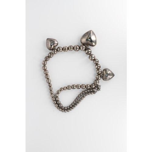 * Silvertone Heart Necklace