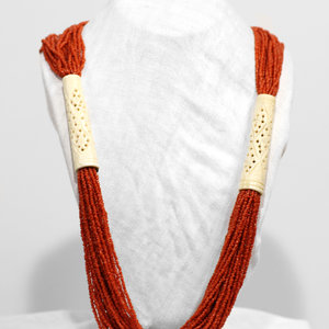 * Coral Beaded Necklace