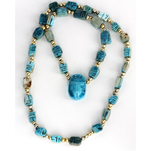 * Scarab Bead Necklace