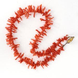 Treasures of Ojai Vibrant Vintage Branch Coral Necklace