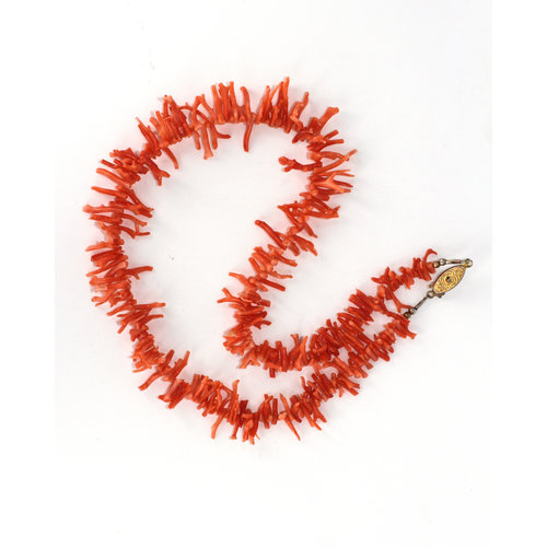 Vibrant Vintage Branch Coral Necklace