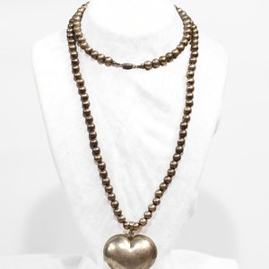 * Puff Heart Necklace