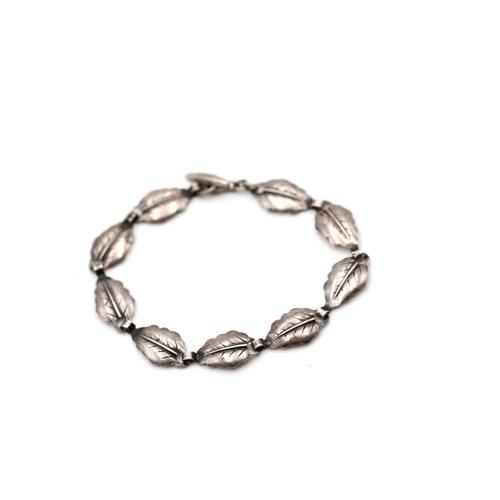 * Petite Sterling Silver Leaf Bracelet