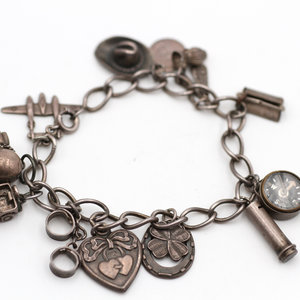 Treasures of Ojai Vintage Sterling Silver Charm Bracelet