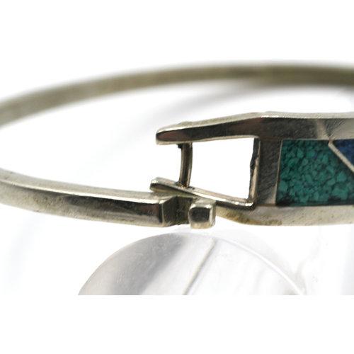 * Alpaca Mexico Inlay Bracelet