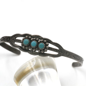 * Sterling Turquoise Baby Bracelet