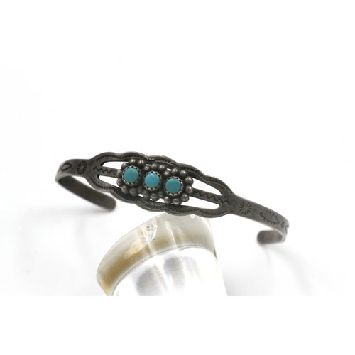 Sterling Turquoise Baby Bracelet