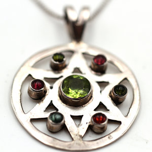 * Sterling Gemstone Necklace