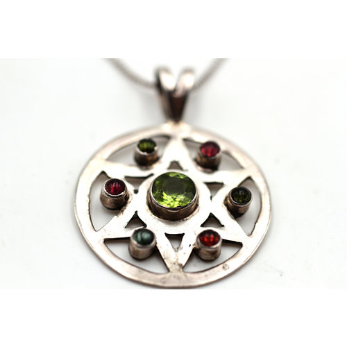 Treasures of Ojai Sterling Gemstone Necklace