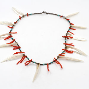 Treasures of Ojai Branch Coral and Abalone Silver Necklace