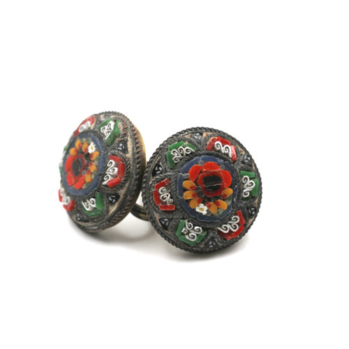 * Micro Mosaic Earrings