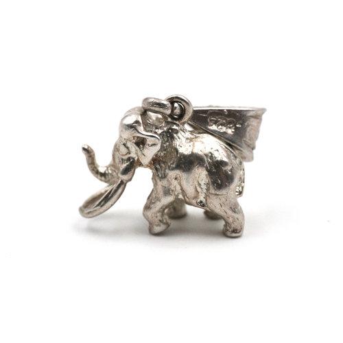 Sterling Mammoth Charm