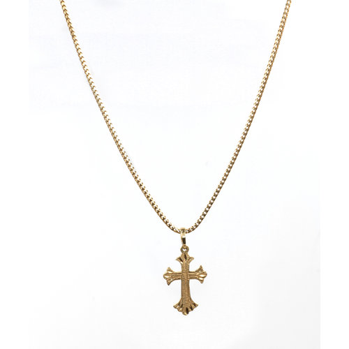 Treasures of Ojai Sweet 14k Gold Cross Pendant on Chain