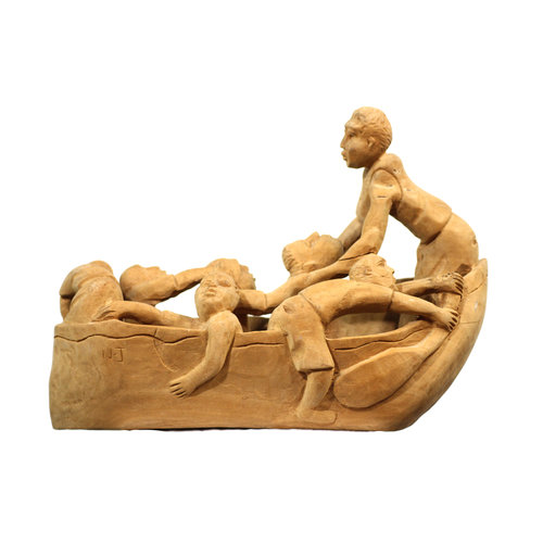 Treasures of Ojai Nacius Joseph Haitian Men in Boat