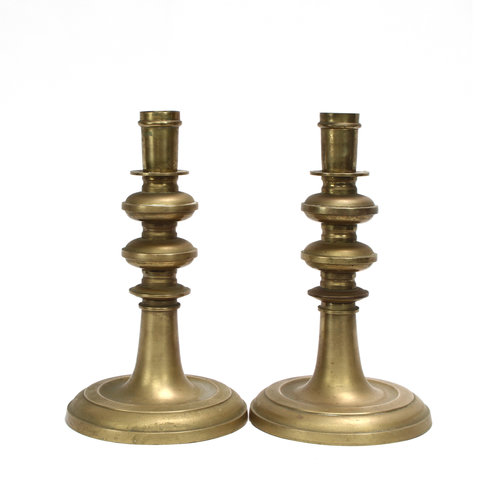 * Pair of Large Brass Candlesticks