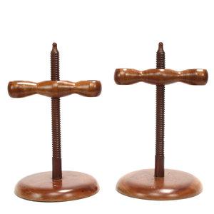 * Pair of Handmade Wood Candlesticks