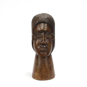 Treasures of Ojai Hand Carved Wood Head Sculpture