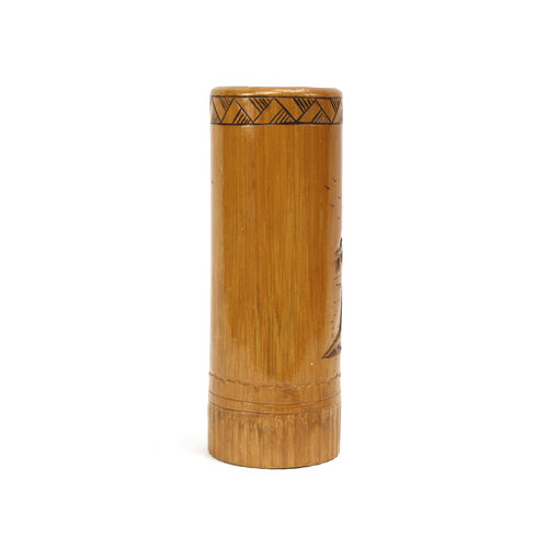 Carved Bamboo Brush Holder