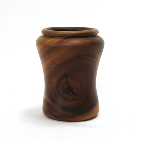 Treasures of Ojai Lathed Burl Wood Vase
