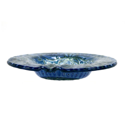 Treasures of Ojai Blue Glass Ashtray