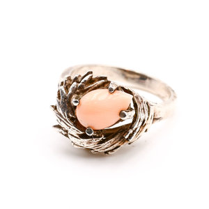 Treasures of Ojai Sterling & Angel Coral Ring S5.5