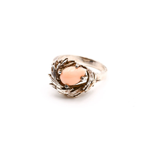 Sterling & Angel Coral Ring