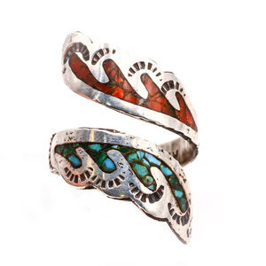 Sterling Inlay Ring Ahasteen