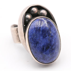 Sterling & Lapis Ring