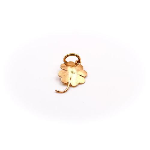 18K Gold 4 Leaf Clover Charm