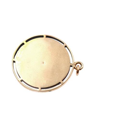 Bold Mid Century 14k Gold Aquarius Medallion