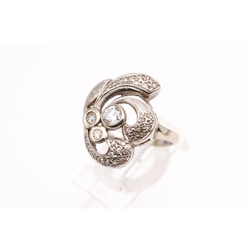 Stunning 14k Gold and Diamond Vintage Ring by B&B
