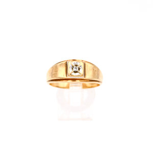 * Vintage 10K Ring with Diamond Accent Ring