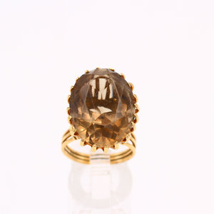 Treasures of Ojai 18k Smokey Topaz Cocktail Ring