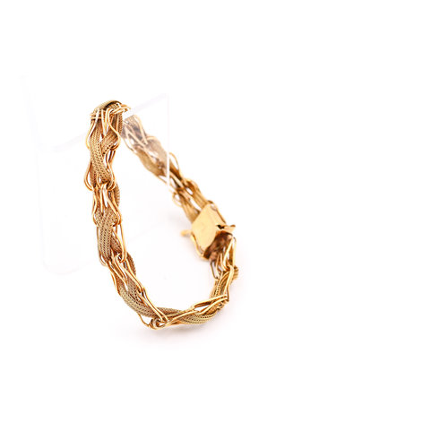 Treasures of Ojai Vintage 14K Gold Woven Chain Bracelet