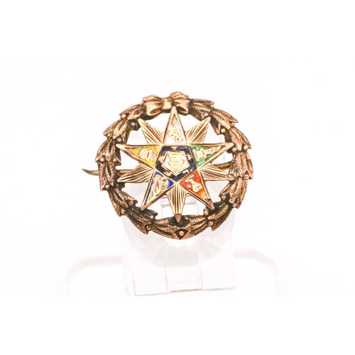 Order of the Eastern Star Brooch in 8k Rose Gold
