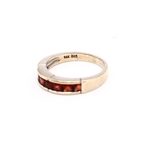 * Bold 14k Gold and Citrine Band
