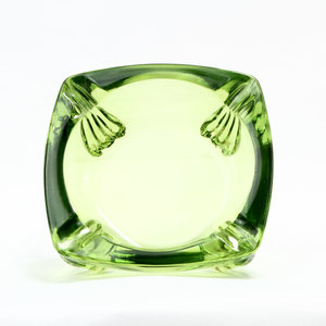 Square Green Ashtray