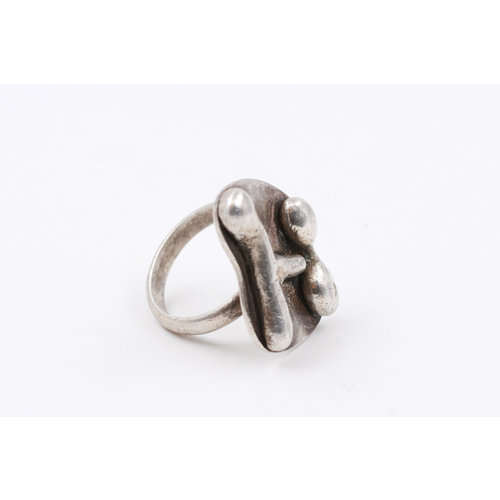 * Sterling Brutalist Ring (7)