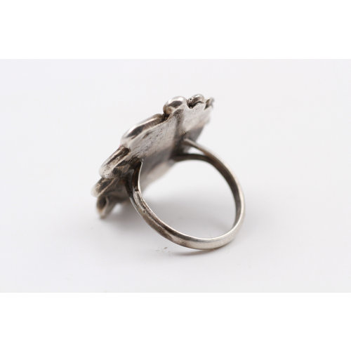 * Sterling Coral Ring (6.5)