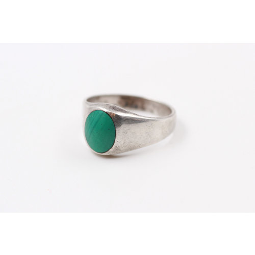 Sterling Malechite Ring (7.5)