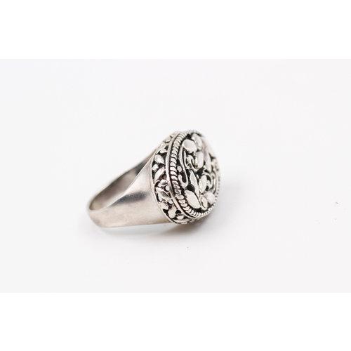 Sterling Floral Ring (7.5)