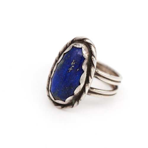 * Native American Sterling & Lapis Ring (8.5)