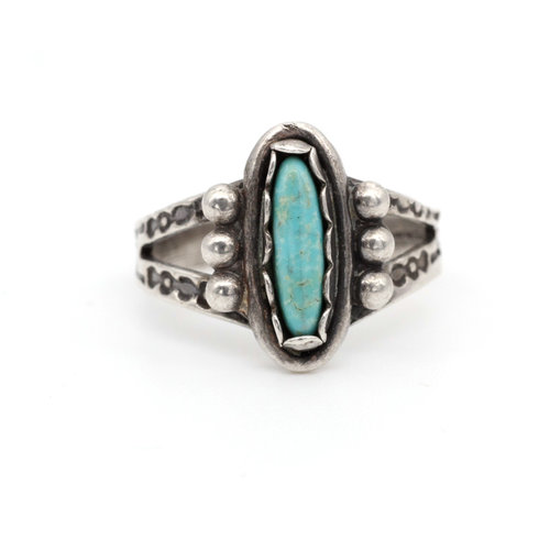 * Southwest Style Sterling & Turquoise Ring (6)